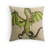 Here there be Dragons ! Throw Pillow