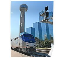 Engine #59 Pulls Amtrak #21 Into Dallas Texas Poster
