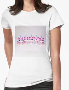 Five cute kitties Womens Fitted T-Shirt