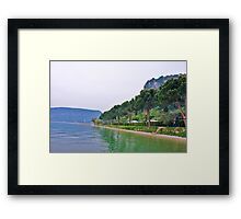 trees and lakes side Framed Print