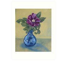 Kitschy Rose Still Life Art Print