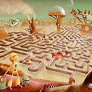 robot city maze by Richard Morden
