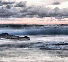 Dusk waves, Portugal by Rick  Senley