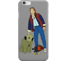 Back To The Future Marty & Einstein  iPhone Case/Skin
