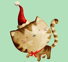 Cute Christmas Cat  - Santa's Helper by colonelle