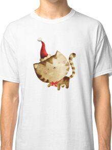 Cute Christmas Cat  - Santa's Helper Classic T-Shirt