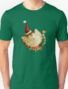 Cute Christmas Cat  - Santa's Helper Unisex T-Shirt