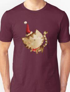 Cute Christmas Cat  - Santa's Helper T-Shirt