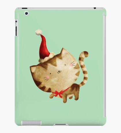 Cute Christmas Cat  - Santa's Helper iPad Case/Skin