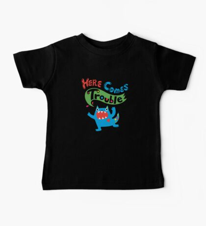 Here Comes Trouble on dark Kids Clothes