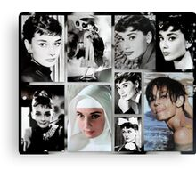 Tribute to Audrey  Canvas Print