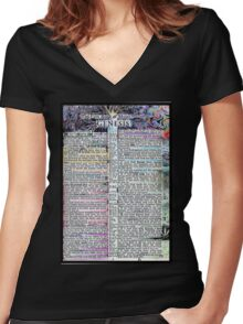 Genesis One  Women's Fitted V-Neck T-Shirt