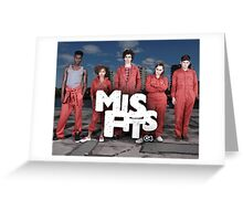 Misfits tv show netflix  Greeting Card