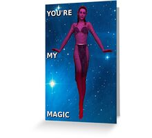 Elf Stars: Magic Card Greeting Card