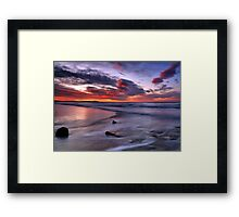 Textures Of The Firth Framed Print