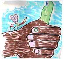 Thumbs Up for Earth Poster