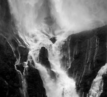Milford Sound Water Fall, Fjordland National Park by Matthew Walters