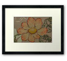 Peach Flower  Framed Print