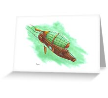Steam-zeppelin Greeting Card