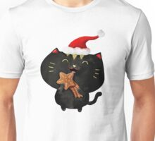 Christmas Black Cute Cat Unisex T-Shirt