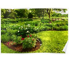 Lush Green Gardens - the Beauty of June Poster