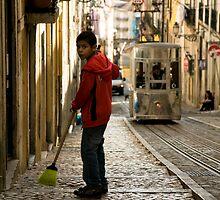 Boy in Bairro Alto, Lisbon by Rick  Senley
