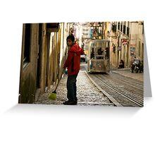 Boy in Bairro Alto, Lisbon Greeting Card