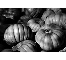Pumpkins B&W Photographic Print