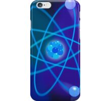 Blue Atomic Structure iPhone Case/Skin