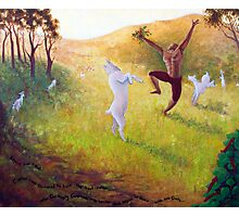 Kaldi and his Dancing Goats....... Photographic Print