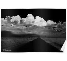 Country Road - Eastern Sierra, CA Poster