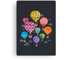 Hot Air Balloon Night Canvas Print