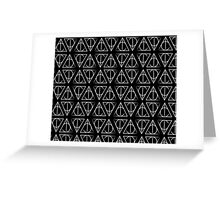 White Deathly Hallows Pattern Greeting Card