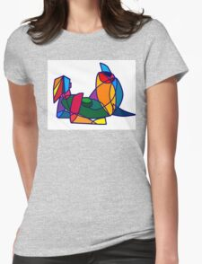 Colourful Womens Fitted T-Shirt