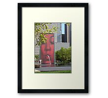 The Crown Fountain Framed Print