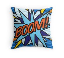 Comic Book BOOM! Throw Pillow
