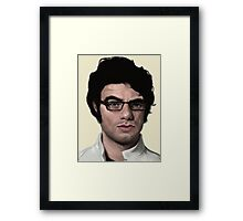 Jemaine's Saucy Eyebrow Framed Print