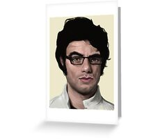 Jemaine's Saucy Eyebrow Greeting Card