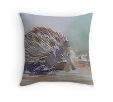Echidna - Shy and Prickly Australian Throw Pillow
