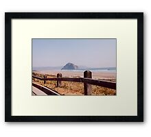 Morro Bay Rock Morro Bay Central California Southwest United States View Framed Print