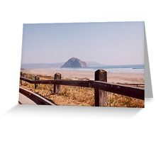 Morro Bay Rock Morro Bay Central California Southwest United States View Greeting Card