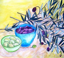 Still Life with Olives by Alexandra Felgate