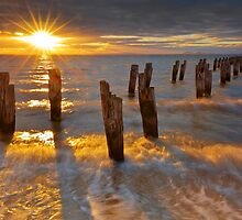 Sunset at the Dell - Clifton Springs by Hans Kawitzki
