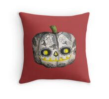 Jack O Lantern Sugar Skull Pumpkin Head Throw Pillow
