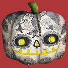Jack O Lantern Sugar Skull Pumpkin Head by colonelle