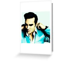 Airbrush morrissey the smiths Greeting Card