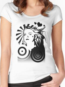 Holly BW Women's Fitted Scoop T-Shirt