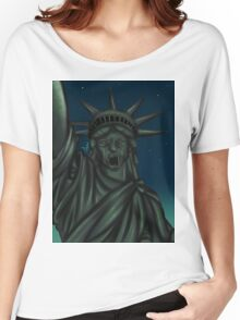Statue of Liberty-Weeping Angel   Women's Relaxed Fit T-Shirt
