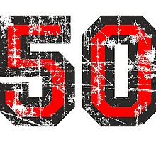 Number 50 Vintage 50th Birthday Anniversary by theshirtshops