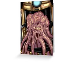Dalek out of armor     Greeting Card